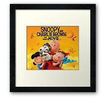 snoopy movie charlie brown Framed Print