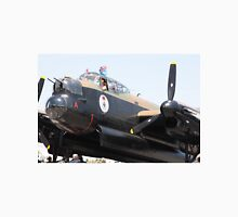 Four Engine Avro Lancaster Bomber prepare to start engines. Unisex T-Shirt