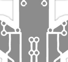 board technology line connection microchip datentechnik electronics cool design robot cyborg pattern Sticker