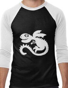 Little Dragon (White) Men's Baseball ¾ T-Shirt