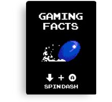 Gaming Facts Spin Dash Canvas Print