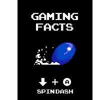 Gaming Facts Spin Dash Photographic Print