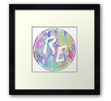 Rough Edit Splatter Logo Framed Print