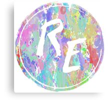 Rough Edit Splatter Logo Canvas Print
