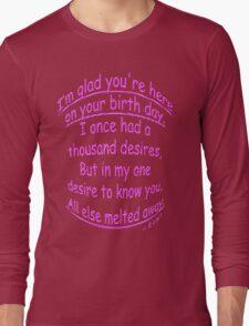 Birthday LOVE Long Sleeve T-Shirt