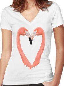 Bleeding Love Women's Fitted V-Neck T-Shirt