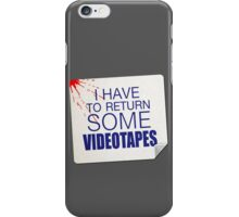 Patrick Bateman Rental Sticker iPhone Case/Skin