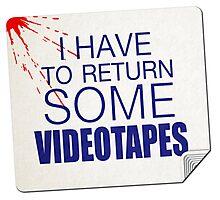 Patrick Bateman Rental Sticker Photographic Print