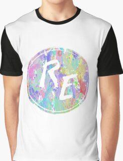 Rough Edit Splatter Logo Graphic T-Shirt