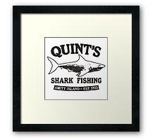 Quint's Shark Fishing Framed Print