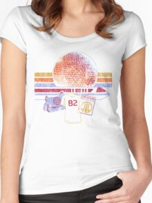 Spaceship Earth and Monorail Vintage T-Shirt Women's Fitted Scoop T-Shirt
