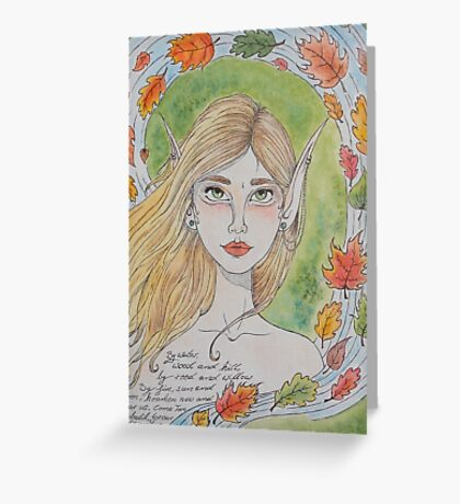 By water, wood and willow Greeting Card