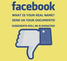 Facebook - WHAT IS YOUR REAL NAME? Baby Tee