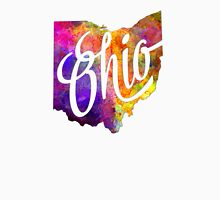 Ohio US State in watercolor text cut out T-Shirt