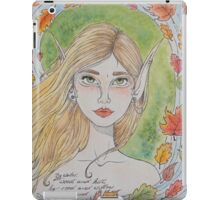 By water, wood and willow iPad Case/Skin