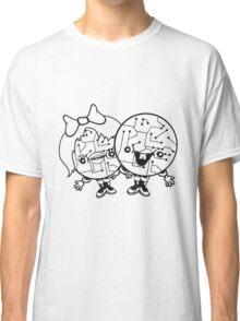 couple love love girl boy man woman male female 2 robot cyborgs couple engineering science fiction sweet cute Classic T-Shirt