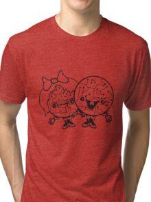 couple love love girl boy man woman male female 2 robot cyborgs couple engineering science fiction sweet cute Tri-blend T-Shirt