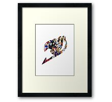 Fairy Tail GMG Characters Logo Framed Print