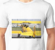Boeing Stearman PT-27 Kadet single engine trainer back view cockpits and tail. Unisex T-Shirt