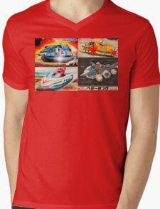 Retro Japanese Future Mens V-Neck T-Shirt