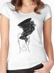 Migraine (Black Image) Women's Fitted Scoop T-Shirt