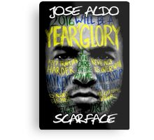 Jose Aldo - Scarface Metal Print
