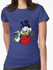 Scrooge McDuck Womens Fitted T-Shirt