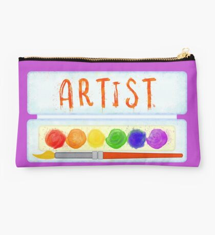 Artist Paint Palette and Brush Watercolor Studio Pouch
