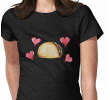 Taco lover Womens Fitted T-Shirt