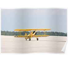 Single Engine Trainer Boeing Stearman PT-27 Kadet returning from flight. Poster