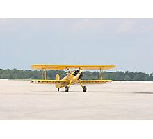 Single Engine Trainer Boeing Stearman PT-27 Kadet returning from flight. Photographic Print