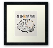 Think Outside the Voxel Framed Print