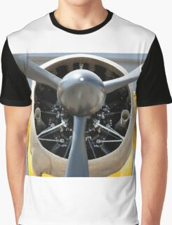 Bristol Mercury XX(X) 870 hp engine and propeller of Army Co-operation single engine Westland Lysander III aircraft. Graphic T-Shirt