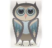 FEATHERED OWL Poster