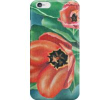 Red Tulips Painting iPhone Case/Skin
