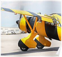 Army Co-operation single engine Westland Lysander III aircraft with started engine. Poster