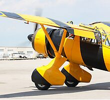 Army Co-operation single engine Westland Lysander III aircraft with started engine. Photographic Print