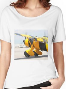 Army Co-operation single engine Westland Lysander III aircraft with started engine. Women's Relaxed Fit T-Shirt