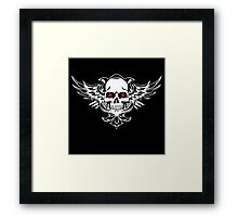 Skull-red eyes Framed Print