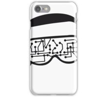 music party dj disco party headphones mischpult glasses technology sunglasses cool sunglasses iPhone Case/Skin