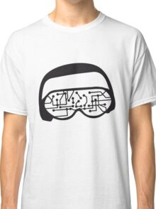 music party dj disco party headphones mischpult glasses technology sunglasses cool sunglasses Classic T-Shirt