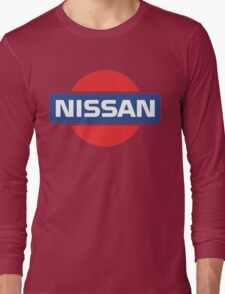 Retro Nissan Logo Long Sleeve T-Shirt