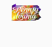 Pennsylvania US State in watercolor text cut out T-Shirt
