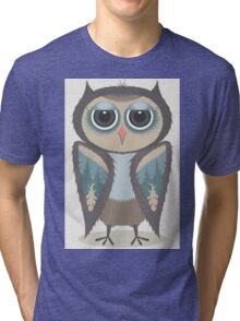 FEATHERED OWL Tri-blend T-Shirt