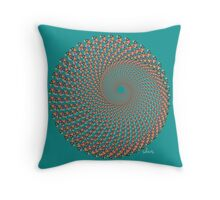 Triangle Fractal 431c Throw Pillow