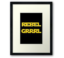 REBEL GIRL GRRRL PRINCESS LEIA STAR WARS Framed Print