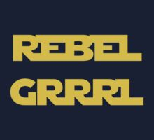 REBEL GIRL GRRRL PRINCESS LEIA STAR WARS One Piece - Long Sleeve