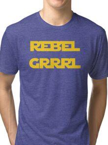 REBEL GIRL GRRRL PRINCESS LEIA STAR WARS Tri-blend T-Shirt