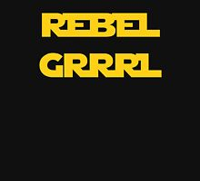 REBEL GIRL GRRRL PRINCESS LEIA STAR WARS Women's Fitted Scoop T-Shirt