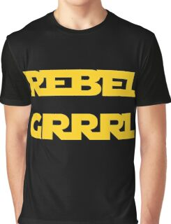 REBEL GIRL GRRRL PRINCESS LEIA STAR WARS Graphic T-Shirt